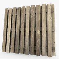 wood fence 3d max