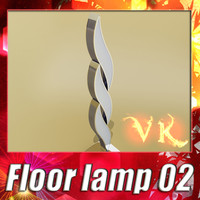 3d modern floor lamp 02