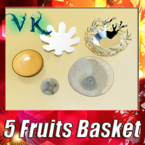 3ds max 5 fruit basket bowls