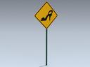 Road Sign (Shoe Ahead)