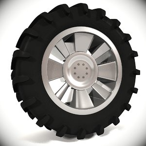 tractor tire 3d max