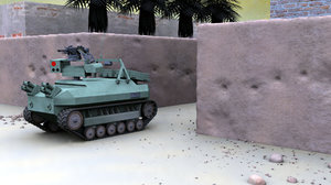 unmanned gladiator tank 3d max