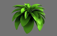 cartoon plant 3d model