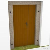 3ds max door village house