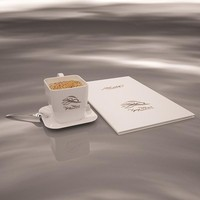 Coffee cup, menu book