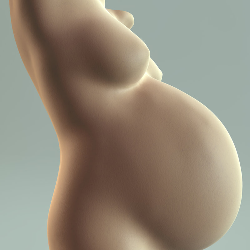 3ds max sculpture pregnant women bust