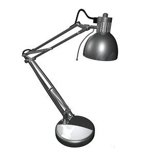 3ds swing arm lamp