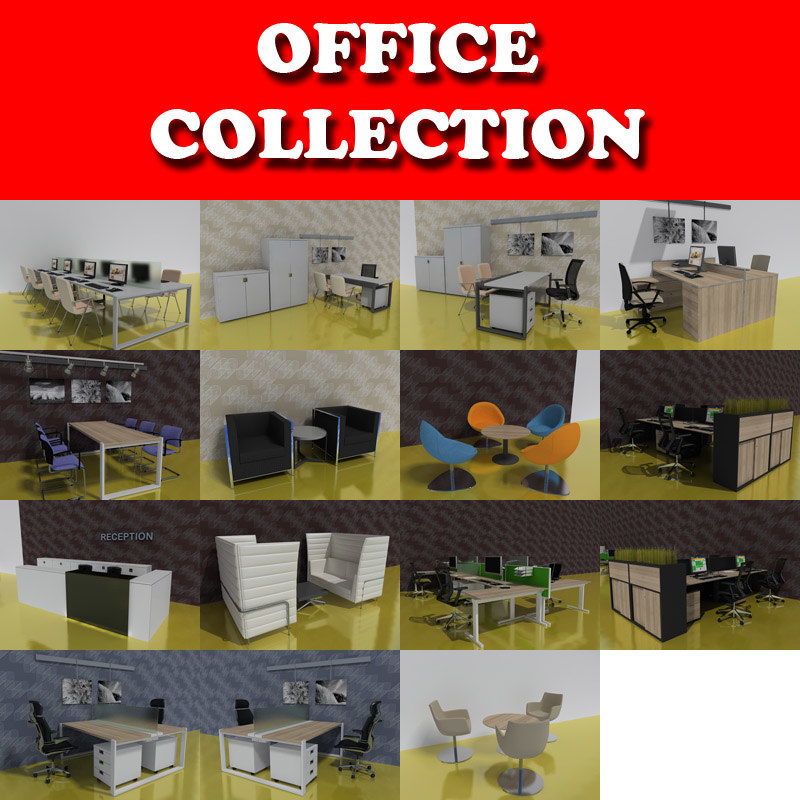 office tables desks chairs 3ds