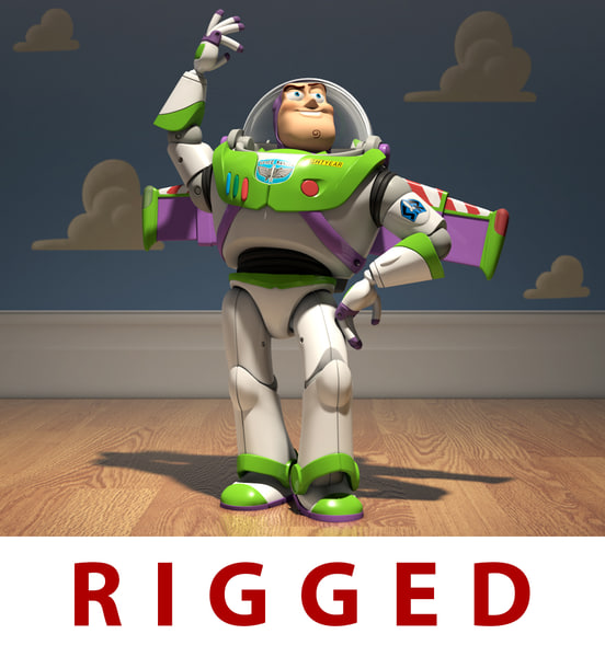3d model of buzz lightyear toy