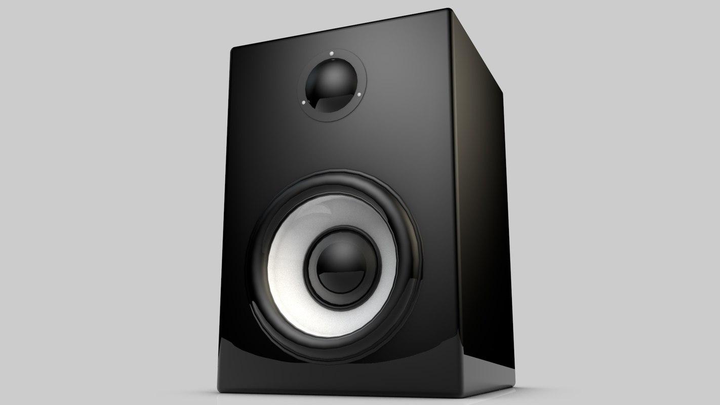 3d model of speaker