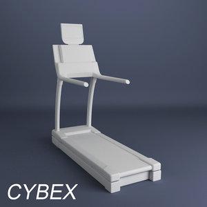 3d cybex treadmill