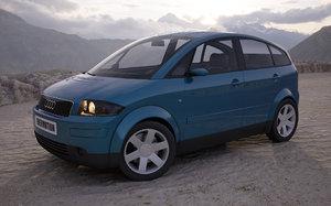 3d model car audi a2