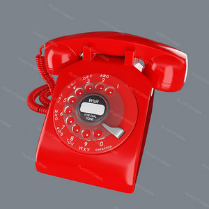 3d model of phone red