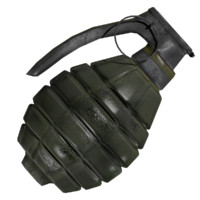 3d model of grenade unwrapped
