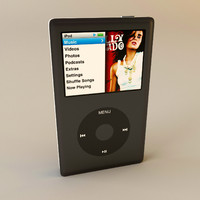 3d model apple ipod classic 160gb