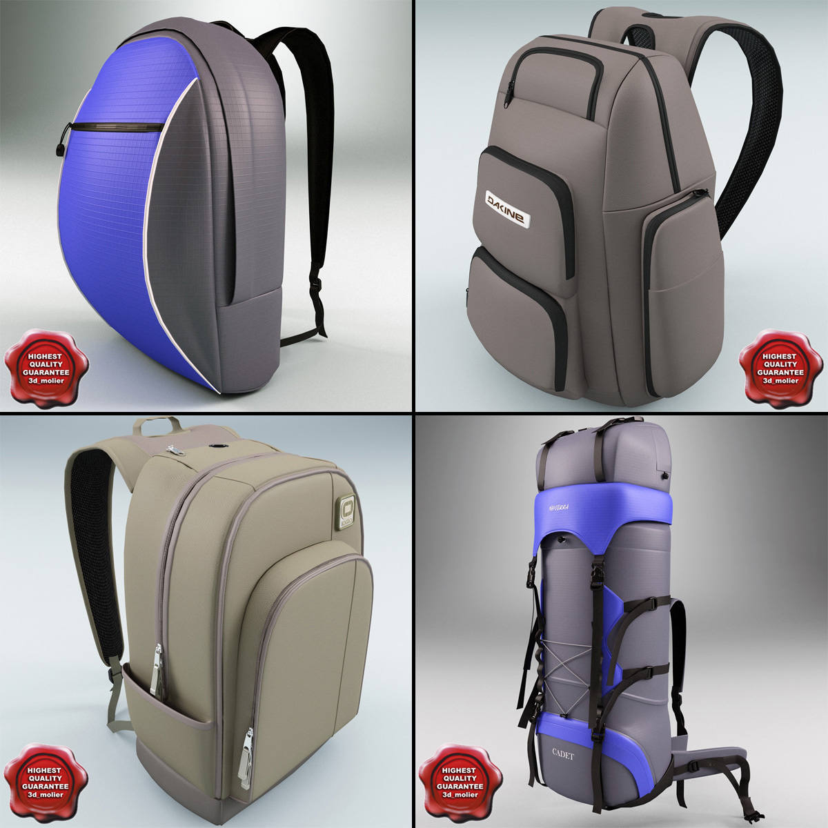3ds max backpacks v1