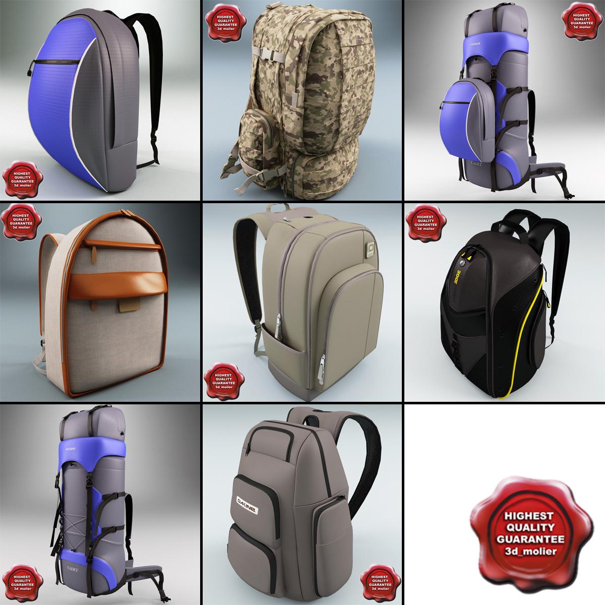 3d model backpacks v3