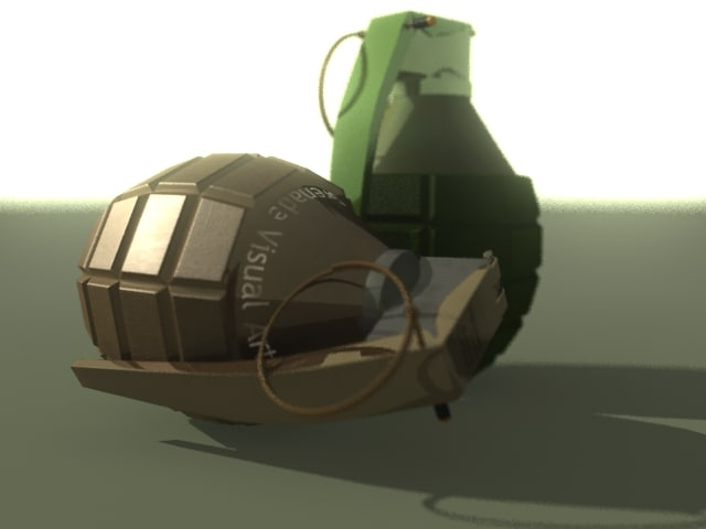 3d grenade visual arts