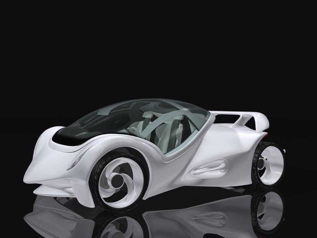 concept car 3d 3ds