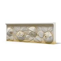 3d classic plaster carved