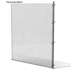 metal cyclone chainlink fence 3d obj
