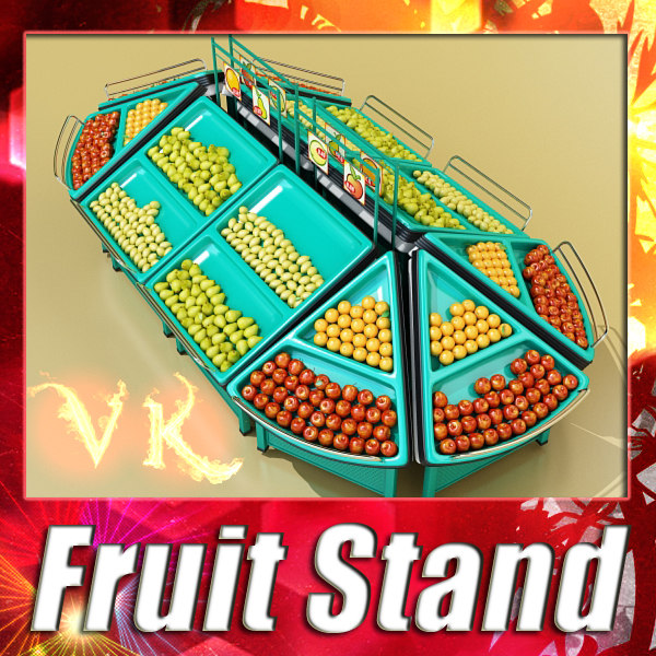 fruit stand 3d 3ds