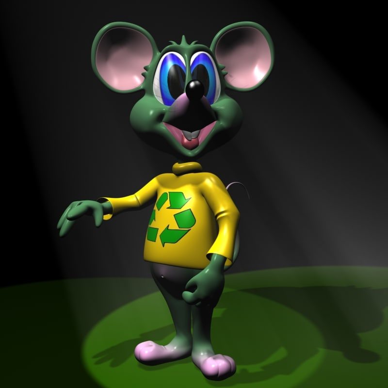 max cute green mouse rigged