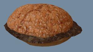 free hamburger buns 3d model