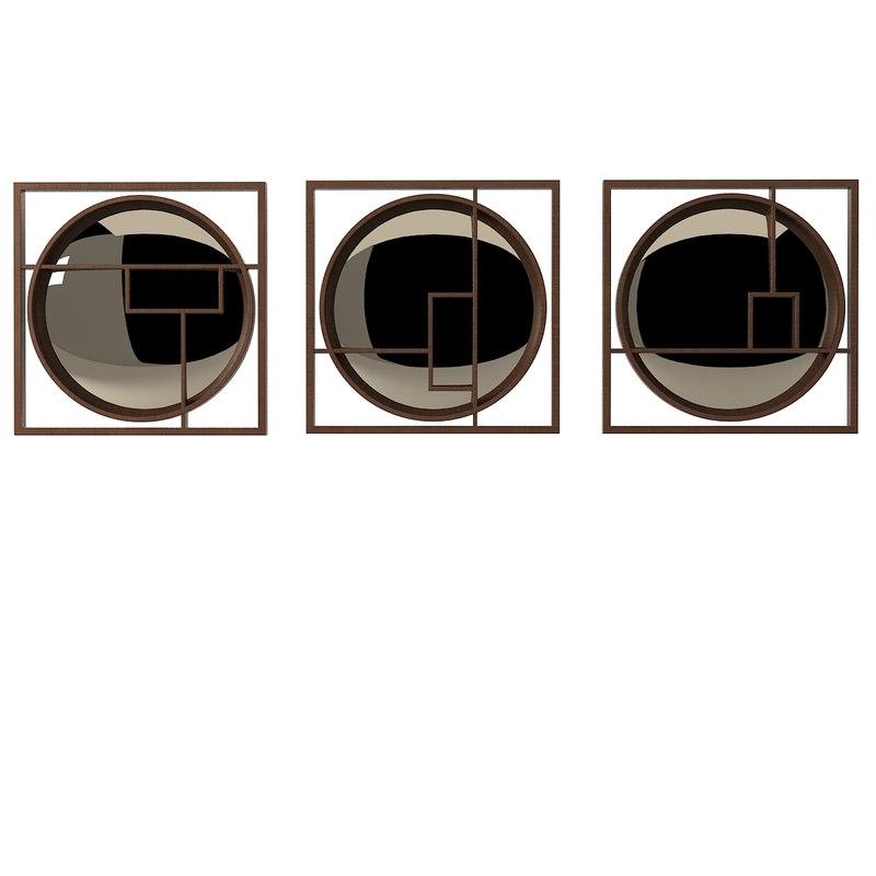3d model decorative mirror sh