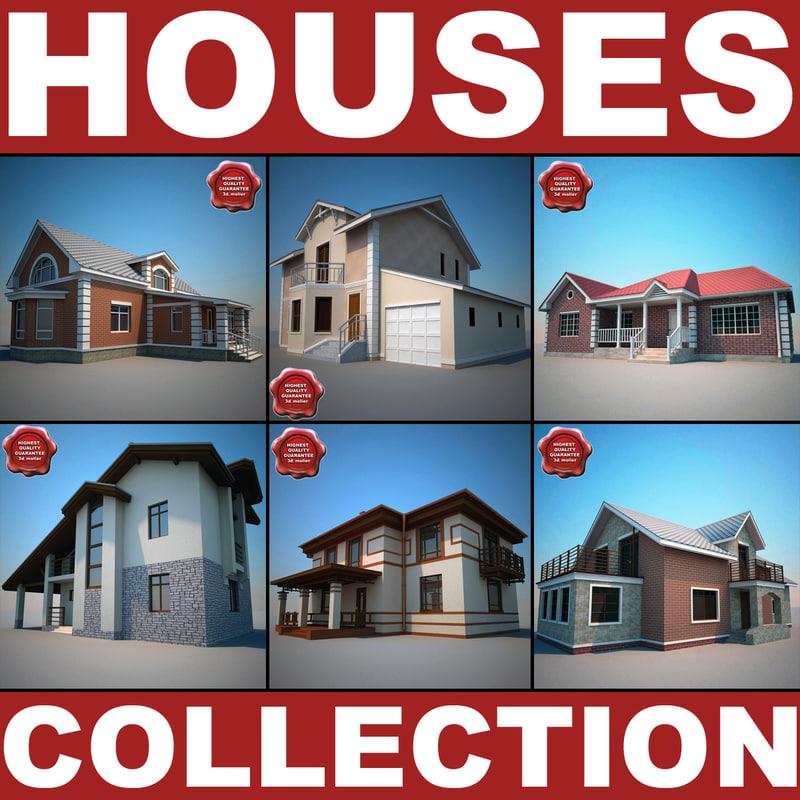 3d houses v3 model