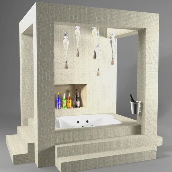 3d indoor jacuzi model