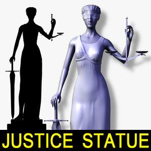 statue justice 3d model