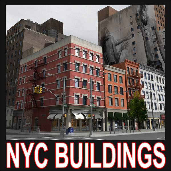 nyc city buildings 3d model