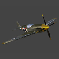 3ds max plane p-51 fighter
