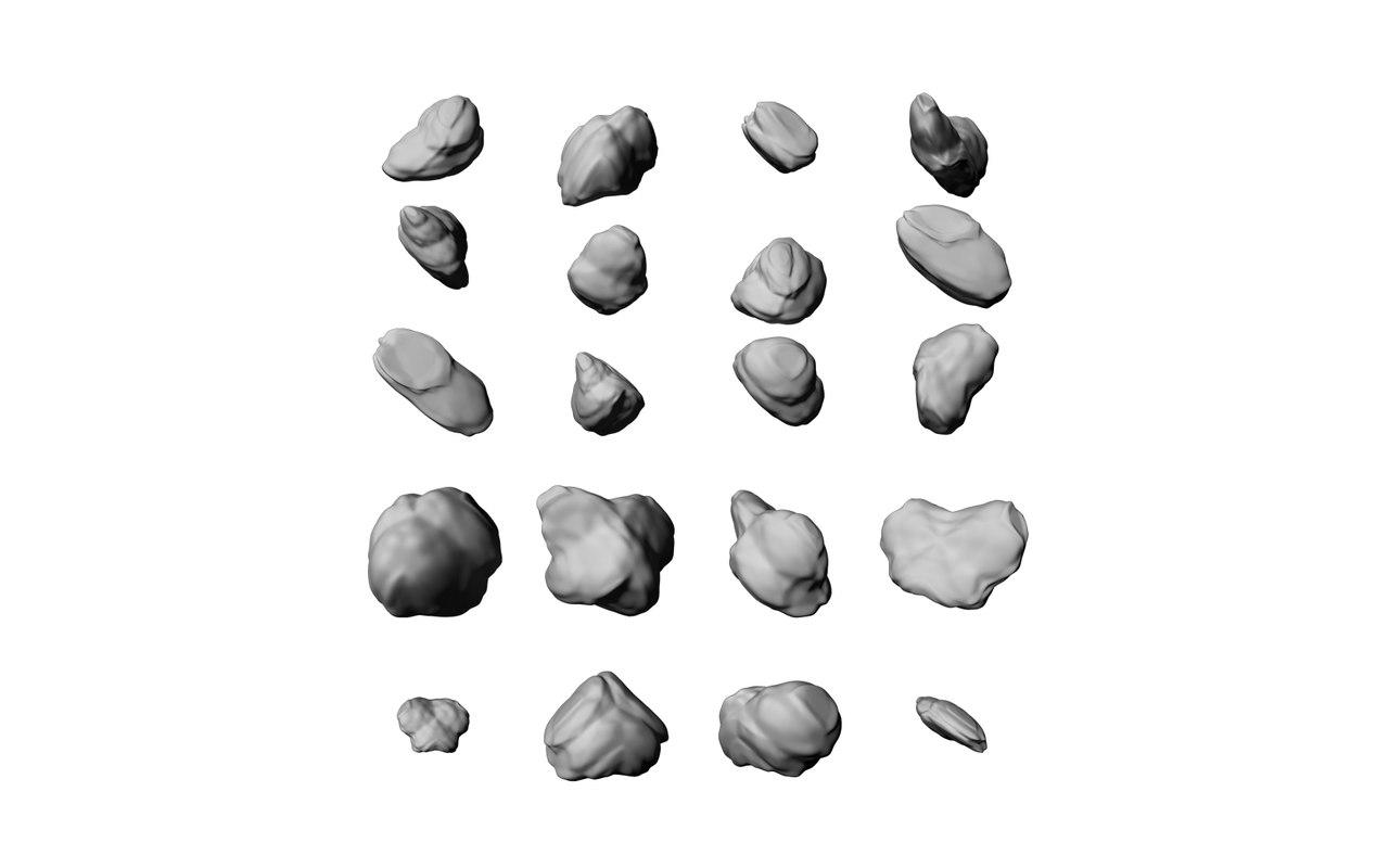 3d obj stones rocks -