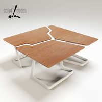 fracture coffee table 3d max