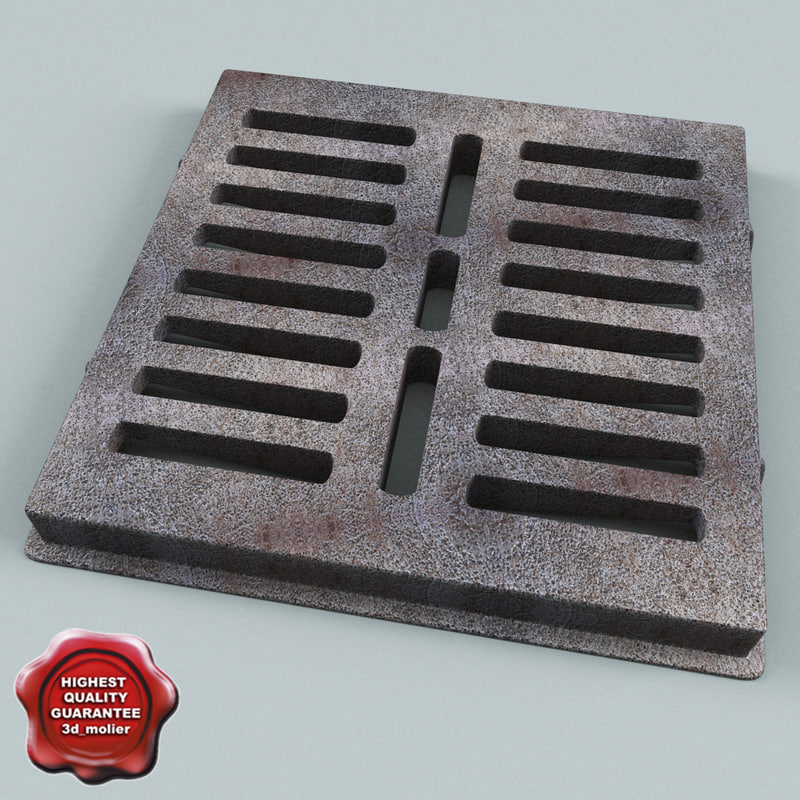 3d sewer grate