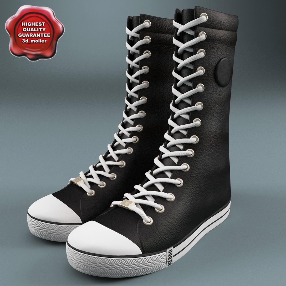 3d sneaker boot keddo v2 model
