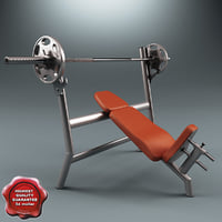 weight bench 3d model