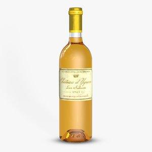 3d wine vintage model