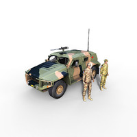 hawkei vehicle aus soldier 3d max