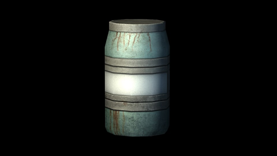 barrel prop science 3d model