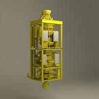 subsea production sub sea 3d model