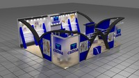 fair stand exhibition camsa 3d model