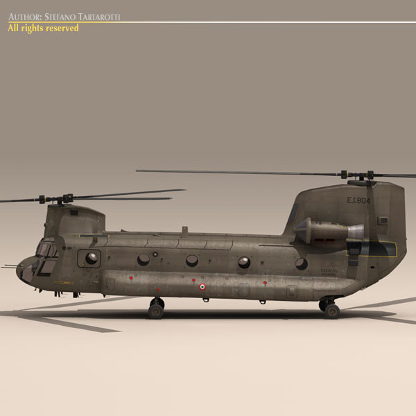 dxf ch-47 chinook italian army helicopter