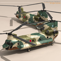ch-47 chinook helicopter 3d c4d