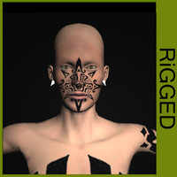 3d ethnic characters rigged