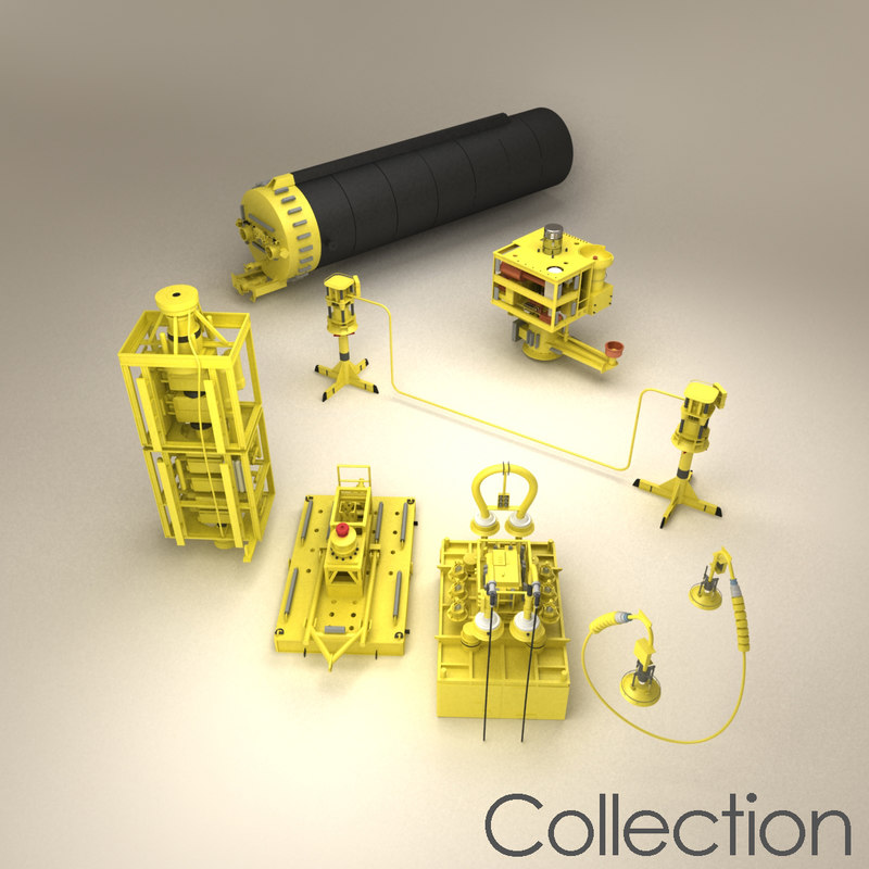 subsea production sub sea 3d model