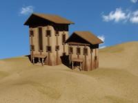 desert fantasy house 3d max