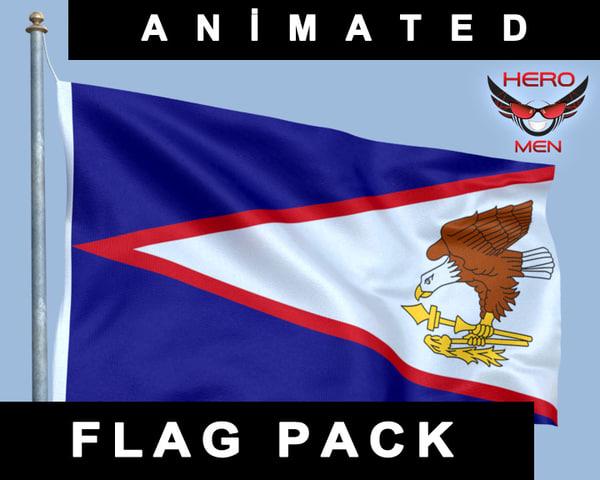 flag samoa 3d model